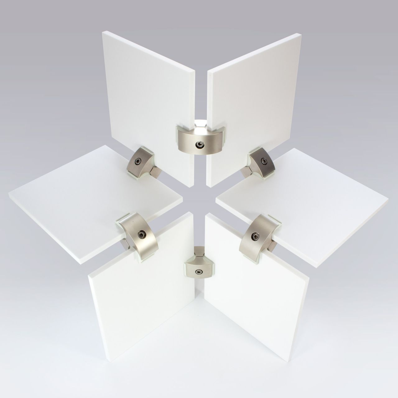 Assembling instructions for the panel connector · Klem